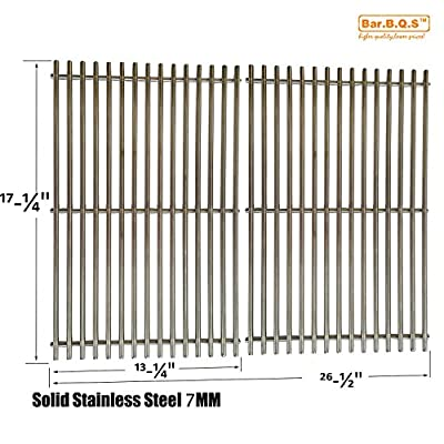 Bar.b.q.s 7MM Rod Replacement Stainless Steel Cooking Grid Replacement For Charbroil 463411512, Kenmore 122.16134110, 720-0773, Master Forge 1010037 and Nexgrill 720-0773 Gas Grill Models, Set of 2