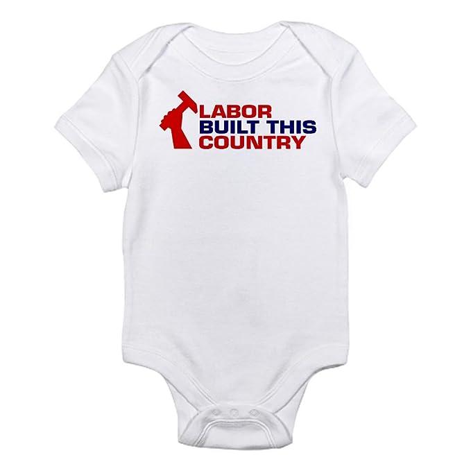 8f73c82516600c CafePress Labor Built Union Infant Bodysuit Cute Infant Bodysuit Baby  Romper Cloud White