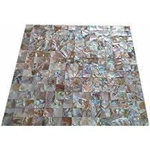 Square Colorful Shell Mosaic Tile Mother of Pearl Kitchen Backspalsh Tile Bathroom Tile Shower Wall Tiles Decoration Background home improvement wholesale