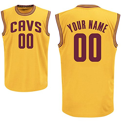 san francisco 97db3 cb5a1 Youth Customized Cleveland Cavaliers Gold Replica Basketball Jersey Kyrie  Irving #2 Size S