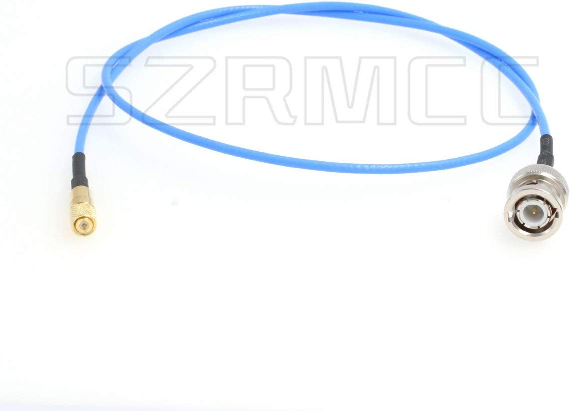 1m SZRMCC Microdot Compatible Connector Male 10-32UNF M5 to BNC Male Test Cable for Vibration Acceleration Sensor