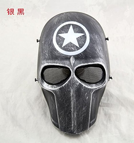 [2374 NEWZIZ01 The Punisher Skull Mens Game Full Face Gear Mask Guard for Halloween Safety Paintball Sci-fi Movie Cos] (Sci Fi Halloween)