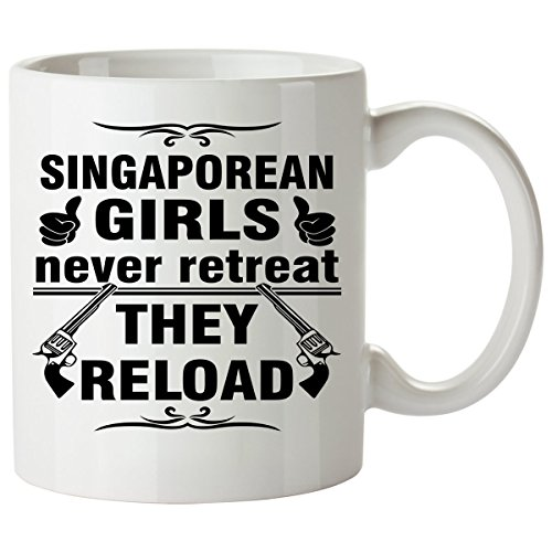 SINGAPOREAN Coffee Mug 11 Oz - Good Gifts for Girls - Unique Coffee Cup - Decor Decal Souvenirs Memorabilia