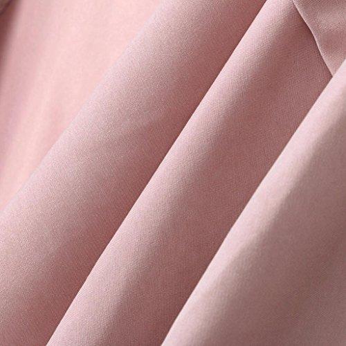 Cárdigan Rosado playa para Tallas Hiroo De Comfort Otoño elegante fiesta Botón Outwear grandes Camisa de la Rosado Grande diaria las la Invierno mujeres manga de Chaqueta larga Soft Casual wZfqp