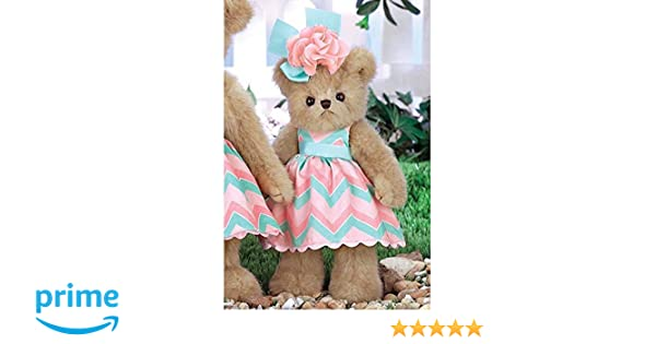 3b4d5145929 Amazon.com  Bearington Peachy Dressed Teddy Bear Stuffed Animal Toy 10