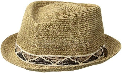 (Goorin Bros. Men's Albequerque Straw Fedora, Brown, Small)