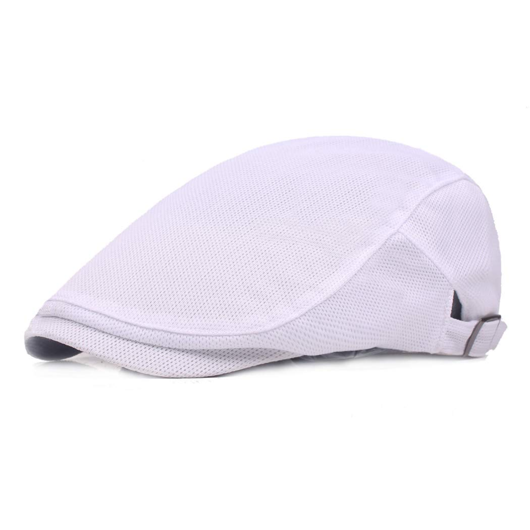 Leucos Ticte Men Breathable mesh Cap Summer hat Newsboy Berets Cabbie lvy Flat caps