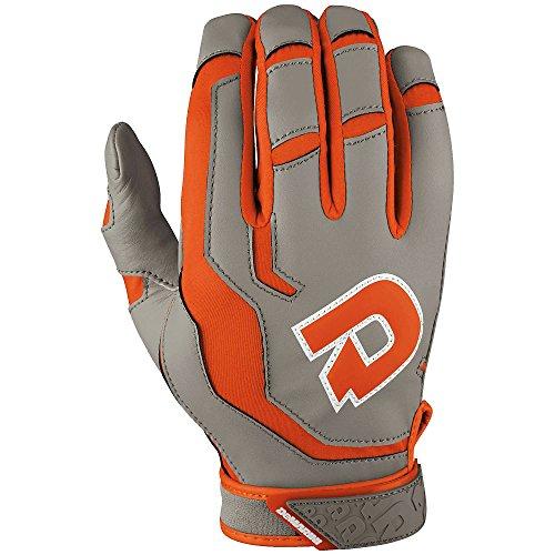 DeMarini Men's Versus Batting Glove, Orange,