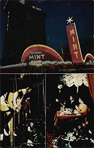 Del Webb's Mint Hotel-Casino on Famed Fremont Street Casino Center Original Vintage Postcard