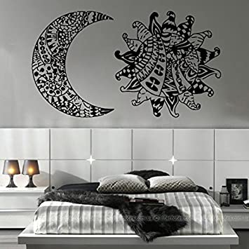 Amazon.com: Sol y Luna, pegatinas calcomanía decorativo para ...
