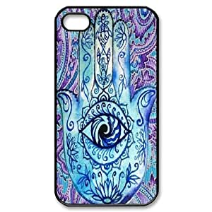 hamsa hand Cheap Custom Cell Phone Case Cover for iPhone 4,4S, hamsa hand iPhone 4,4S Case