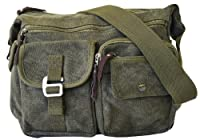 Vintage Classic Army Messenger Heavy Weight Over the Shoulder Bookbag Bag