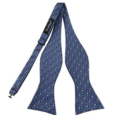 PenSee Mens Self Tie Bow Ties Unique Animal Jacquard Pattern Bowties- Various Styles