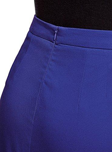 Coton en Crayon Ultra Bleu Jupe oodji 7500n Femme RwS8nXttq
