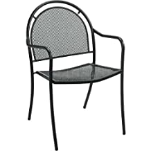 Brentwood Outdoor Metal Chair With Arms   Lot Of 4