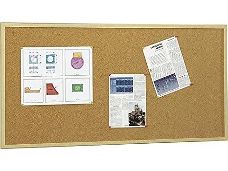 Bacheche Per Ufficio : 5 star 607 3 bacheca di sughero con cornice in legno da 60x90 cm