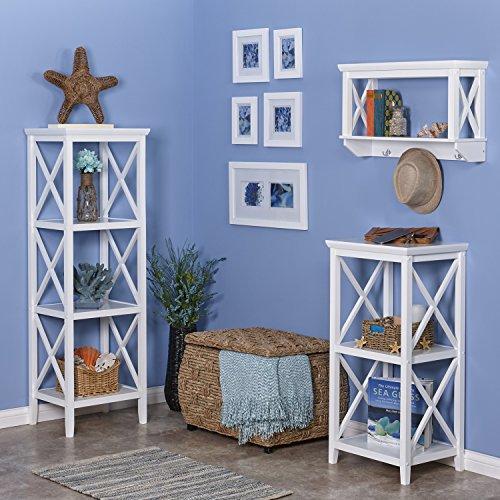 RiverRidge X- Frame Collection 4-Shelf Storage Tower, White by RiverRidge Home (Image #4)