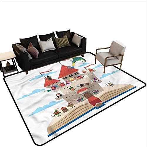 Medieval,Floor Mat Kitchen Long Carpet 80