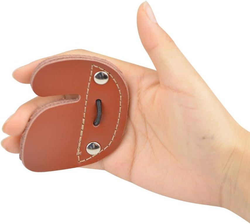 Daumen Handschuhe Finger Tab Kuhleder 6.5x3.5cm Zubehör Schutz 2019