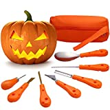 Pumpkin Carving Kit - 7 PCS Stainless Steel, Halloween Pumpkin Carving Tools Set for Kids and Adults