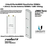 Ubiquiti RocketM900 BaseStation 900MHz + Airmax Sector Antenna 13dBi 120deg