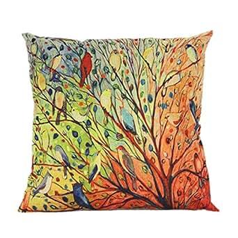 Amazon.com: Colorful Pillow Case, Leyorie Tree Flower