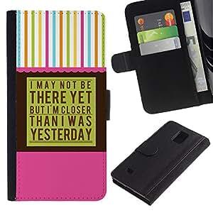 Paccase / Billetera de Cuero Caso del tirón Titular de la tarjeta Carcasa Funda para - Aa Anonymous Alcoholics - Samsung Galaxy Note 4 SM-N910