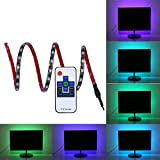 Bias Lighting for HDTV, Findyouled USB LED Strip RGB Dimmable Backlight kit with RF Remote for Flat Screen TV LCD, Desktop PC