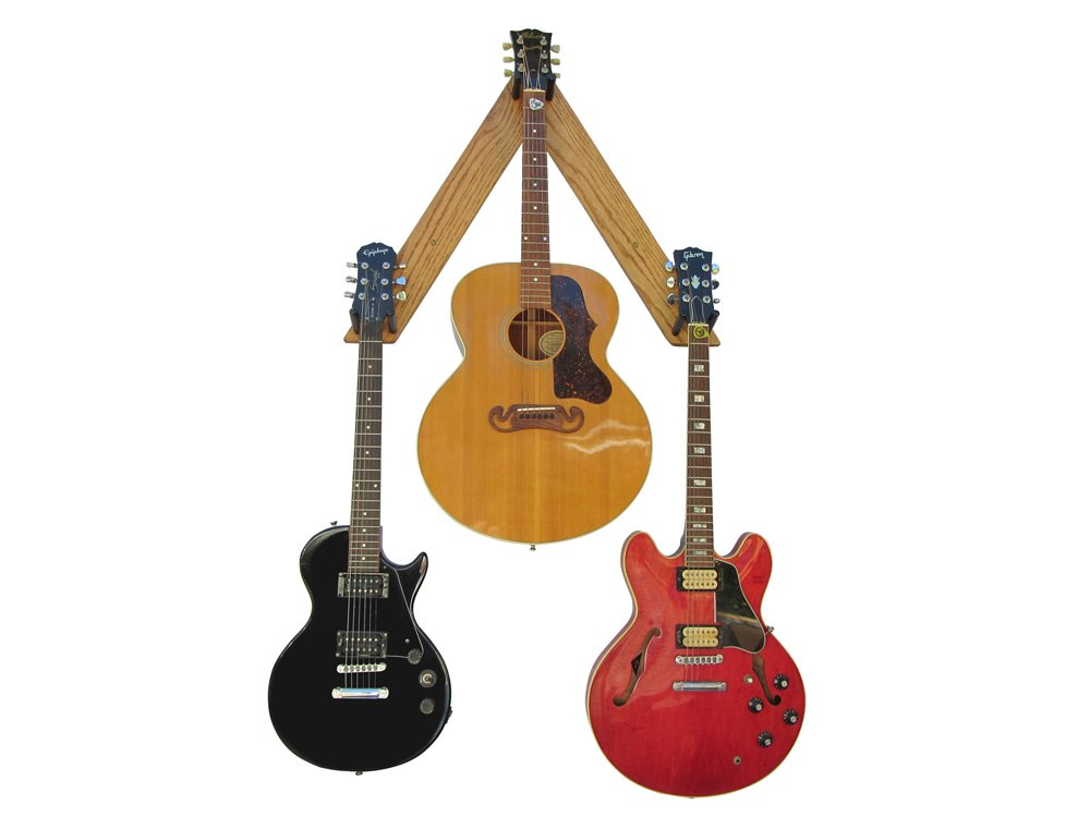 Guitar tree 3-guitar mount wall storage
