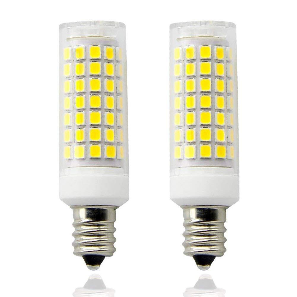 E12 LED 2-Pack /… (Daylight White) All-New AC110-130V Dimmable Candelabra Base E12 Bulbs 360 Degree Beam Angle T3//T4 Candelabra Base Corn Bulb 8W E12 Led Blub 75W Equvilent,850LM 90PCS