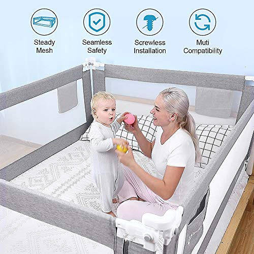 """baby products, nursery, furniture,  furniture collections 2 on sale SURPCOS Bed Rails for Toddlers - 60"""" 70"""" 80 in USA"""