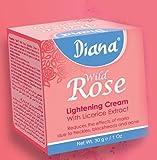 Diana Wild Rose - Crème éclaircissante pour le visage - Estompe les taches et autres imperfections - Avec agents éclaircissants naturels - 30g