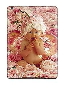 Premium Tpu Cute Baby In Flowers Cover Skin For Ipad Air