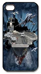 Aircraft Carrier Breakthrough PC Case Cover for iPhone 4 and iPhone 4s Black by icecream design