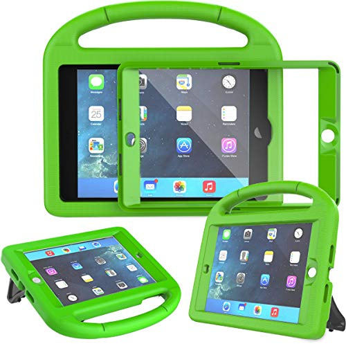 AVAWO Kids Case for iPad Mini 1 2 3 - Built-in Screen Protector Light Weight Shock Proof Handle Stand Kids Cover for iPad Mini 1st Gen, iPad Mini 2nd Gen, iPad Mini 3rd Generation - Green