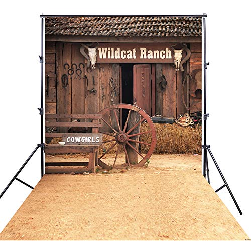 FiVan 5x10ft Cowboy theme Photography background for cosplay photos outdoor scene photo backdrop -