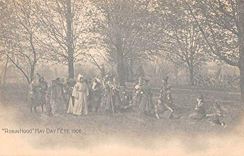 Robin Hood May Day Fete 1906 People in Costume Vintage Postcard JF235112