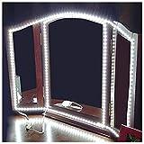 ROYFACC LED Mirror Lights Hollywood Style Makeup Table Light Dressing Vanity Light Strip Light Brightness Adjustable 240 LEDs 13ft 6000k White Flexible, Mirror not Included