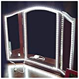 ROYFACC LED Mirror Lights Hollywood Style Makeup Table Light Dressing Vanity Light Strip Light Brightness Adjustable 240 LEDs 13ft 6000k White Flexible, Mirror not Included