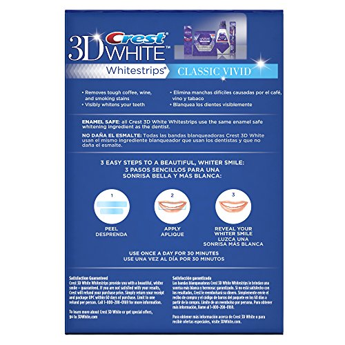 Crest 3D White Whitestrips Classic Vivid Teeth Whitening Kit, 12 Treatments - 24 Strips by Crest (Image #4)
