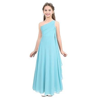 talla 40 estilo atractivo comprando ahora IEFIEL Vestidos Niñas Sin Mangas Vestido de Fiesta Princesa Gasa Bautizo  Boda para Niña Vestido Comunion Ceremonia (6-14 Años)