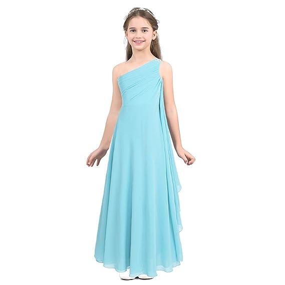IEFIEL Vestidos Niñas Sin Mangas Vestido de Fiesta Princesa Gasa ...