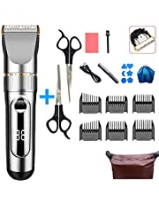 Hair Trimmers, Hair Clippers Quiet Cordless Rechargeable,Home Hair Cutting Kit, Body Hair Removal Machine for Men/Father/Husband/Boyfriend/Kid,B-18Pcs