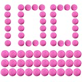 Goshfun 100Pcs Universal Refilled Compatible Replace Bullet Balls Pack for Nerf Rival Blaster Series - Rosy