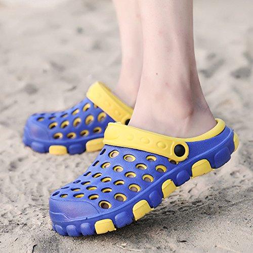 scarpe uccello antiscivolo spiaggia scarpe antiscivolo Pantofole da cool donna 41 sandali paio con estate Giallo blu tacco nido foro grande Codice uomo 7Ewawdq