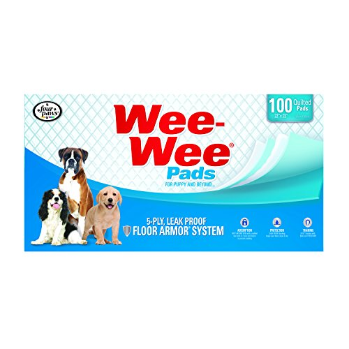 Four Paws Wee-Wee Pet Training and Puppy Pads,  100 Count Box,  22