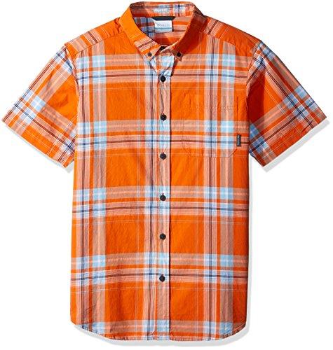Columbia Men's Rapid Rivers Ii Short Sleeve Shirt, Heatwave Large Plaid, Medium