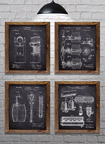 Gifts for Beer Lovers! - Vintage Beer Themed Patents - Set...