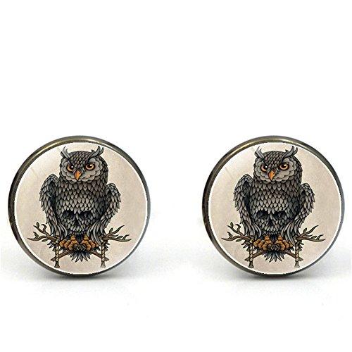 Da.Wa Owl Time Gem Metal Cufflinks Mens Cuff link Round Shape Cufflinks Gift for Men/Father's Day/Lover/Friends/Wedding/Anniversaries/Birthdays by Da.Wa (Image #6)