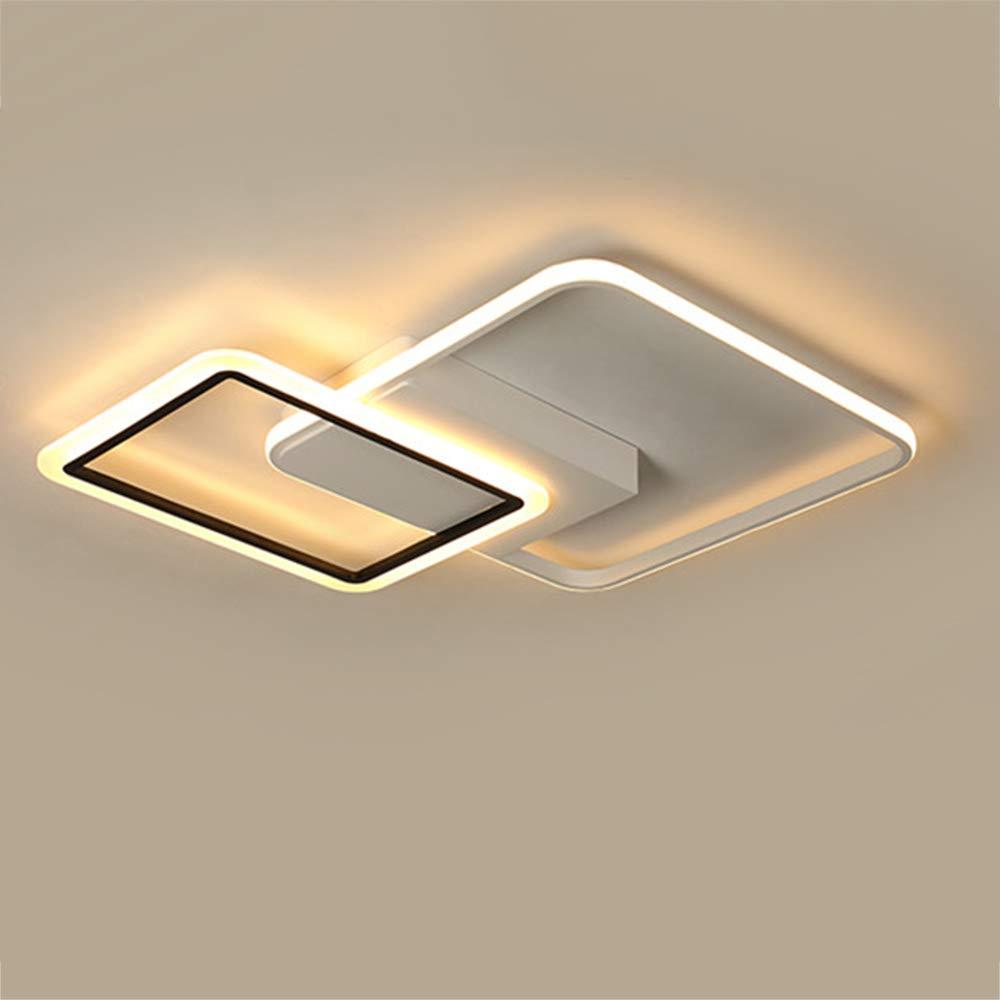 居間の天井灯のアクリルの調光対応のシャンデリアは寝室のための同じ高さの台紙の天井灯を導きました,warmlight,40W 40W Warmlight B07SD192YP